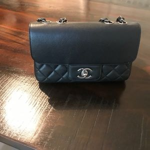 Chanel caviar all about flap bag black